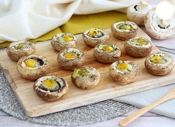 Funghi con uova di quaglia